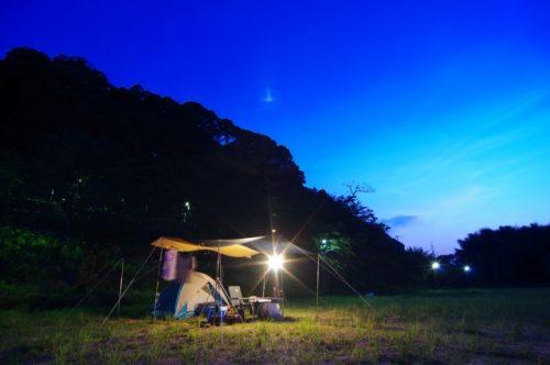 キャンプのLEDランタン